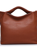 Women Bags All Seasons PU Tote Zipper for Casual Fuchsia Black Blue Chocolate