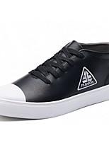 Для мужчин обувь Полиуретан Весна Осень Светодиодные подошвы Кеды Шнуровка Назначение Повседневные Черный Серый
