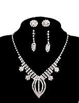 Women's Chain Necklaces Rhinestone Alloy Simple Jewelry For Wedding Party Engagement