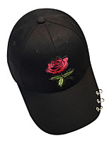 Women's Polyester Baseball Cap,Pattern Solid Spring/Fall Winter Embroidered