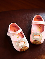 Girls' Shoes PU Spring Fall First Walkers Loafers & Slip-Ons For Casual Blushing Pink Silver White Gold