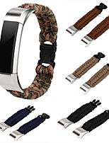 cheap -For Fitbit Alta Fitbit Alta HR Straps Nylon Rope Survival Watch Strap Bracelet Watch Band