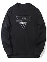 Sweatshirt Homme Sports Vacances Lettre Col Arrondi Micro-élastique Polyester Manches longues Printemps Automne
