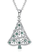 Жен. Ожерелья с подвесками Цирконий Геометрической формы Циркон Позолота Бижутерия Назначение Рождество
