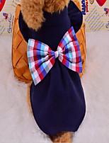 Chien Manteaux Vêtements pour Chien Garder au chaud Britannique Rouge Bleu marine