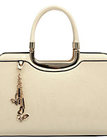 Women Bags All Seasons Patent Leather Tote Zipper for Casual Dark Green Blushing Pink Red White