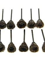 Forma de tigela de 10pcs triturando polimento pulando escova de jarra - marrom preto