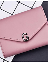 Women Bags PU Wallet Buttons for Event/Party Formal All Seasons Black Blushing Pink Dark Blue Purple Sillver Gray