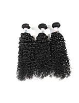 Unprocessed Brazilian Bundle Hair Curly Hair Extensions 3 Pieces Black