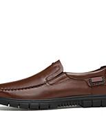 Для мужчин обувь Натуральная кожа Весна Осень Удобная обувь Меховая подкладка Мокасины и Свитер Комбинация материалов Назначение