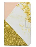 titular de cartão de padrão de mármore com suporte flip caso de couro magnético PU para samsung galaxy tab 4 t330 t331 tablet table de 8,0
