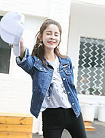 Giacca di jeans Da donna Casual Semplice Inverno,Alfabetico Colletto Altro Standard Manica lunga