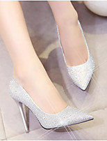 Women's Shoes PU Glitter Spring Fall High Heel Heels For Casual Red Silver Gold