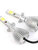 Joyshine C6-H1 LED Headlight Bulbs 60W 6000LM DC9-36V COB Conversion Bulb Beam Kit (2PCS)