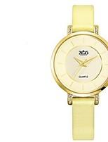 Mulheres Relógio de Moda Quartzo Couro Banda Amarelo