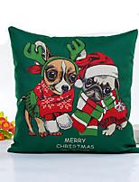 1 pcs Linen Pillow Cover,Dog Style