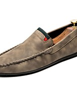Men's Shoes Rubber Fall Moccasin Loafers & Slip-Ons For Outdoor Khaki Gray Black