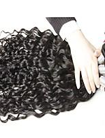 vierge Cheveux Péruviens Tissages de cheveux humains Ondulation Prononcée Extensions de cheveux 3 Pièces Noir