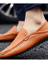 Men's Shoes PU Spring Fall Moccasin Loafers & Slip-Ons For Casual White Black Yellow Red Blue
