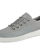 Men's Shoes Fabric Spring Fall Comfort Sneakers Lace-up For Outdoor Gray Beige Black