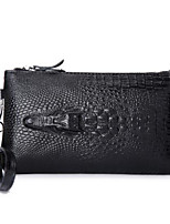 Women Bags All Seasons PU Clutch Zipper for Casual Black