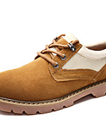 Men's Shoes Suede Canvas Fall Winter Comfort Sneakers Lace-up For Casual Outdoor Khaki Brown