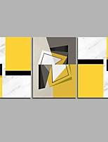 Peint à la main Abstrait Artistique Abstrait Style moderne Anniversaire Moderne/Contemporain Bureau / Affaires Cool Noël Nouvel An Trois