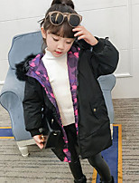 Girls' Solid Down & Cotton Padded,Others Winter Long Sleeve