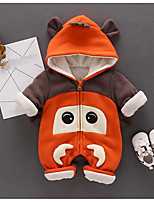 Baby Animal One-Pieces,100%Cotton Winter Fall Brown Orange