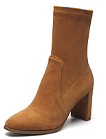 Women's Shoes Suede Winter Fashion Boots Boots Mid-Calf Boots For Casual Brown Black