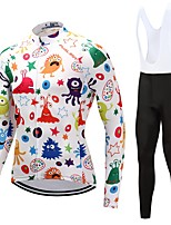 Cycling Jersey with Bib Tights Unisex Long Sleeves Bike Clothing Suits Quick Dry Graphic Floral / Botanical Autumn/Fall Spring