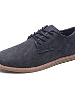 Men's Shoes PU Spring Fall Comfort Oxfords Lace-up For Casual Dark Brown Brown Black