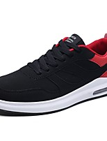 Men's Shoes Rubber Spring Fall Comfort Sneakers Lace-up For Outdoor Black/White Red Black