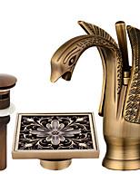 Set de centre Séparé with  Soupape céramique Mitigeur un trou for  Bronze huilé , Robinet lavabo