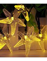Solar Powered  LED String Light Starfish Shape 0.5W 10LM 2V 5M 20LEDS Multi Color/Warm White/White