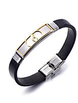 Homme Femme Bracelets en cuir Cuir Forme Géométrique Bijoux Pour Soirée Quotidien