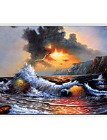 Hand-Painted Landscape Horizontal Panoramic,Others One Panel Canvas Oil Painting For Home Decoration