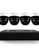 4CH 5-in-1 DVR Kits 4pcs IR Night Vision Bullet CCTV Camera Security System