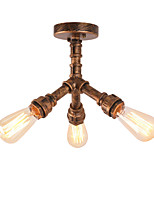 3 Head Vintage Loft Industrial Style Water Pipe Flush Mount Light Restaurant Cafe Bar Light