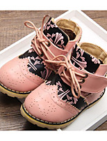 Girls' Shoes Cowhide Fall Winter Comfort Boots For Casual Blushing Pink Dark Blue