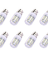 8pcs 2W GU10 LED Corn Lights T 30 leds SMD 5730 White 150lm 6000-6500K 110-120V