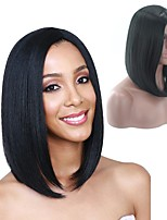 Women Synthetic Wig Capless Short Black Natural Wigs Costume Wig