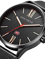 Муж. Нарядные часы Модные часы Наручные часы Японский Кварцевый / Нержавеющая сталь Группа Черный Серебристый металл Розовое золото