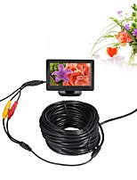 10mm Lens AV Endoscope Camera Mini Camera 5V Waterproof IP66 15m Inspection Borescope Snake Pipe Cam Night Vision