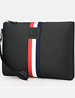 Men Bags All Seasons PU Clutch Zipper for Formal Office & Career Black