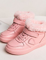 Girls' Shoes Nubuck leather Cowhide Winter Comfort Snow Boots Boots For Casual Black Beige Blushing Pink