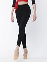 Latin Dance Bottoms Women's Performance Cotton Lycra 1 Piece Natural Pants