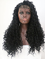 Women Synthetic Wig Lace Front Long Curly Black Natural Hairline With Baby Hair Natural Wigs Costume Wig