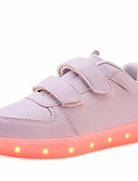 Girls' Shoes PU Spring Fall Comfort Sneakers For Casual Blushing Pink Blue Black White