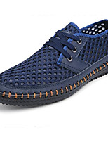 Men's Shoes Cowhide Spring Fall Light Soles Sneakers For Casual Blue Coffee Yellow Gray